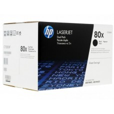 Kартридж Hewlett-Packard HP 80X Black LaserJet (CF280XF) двойная упаковка 2*6900 копий