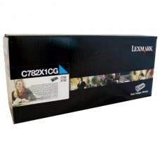 Картридж Lexmark C782 Синий 15K RETURN PROG